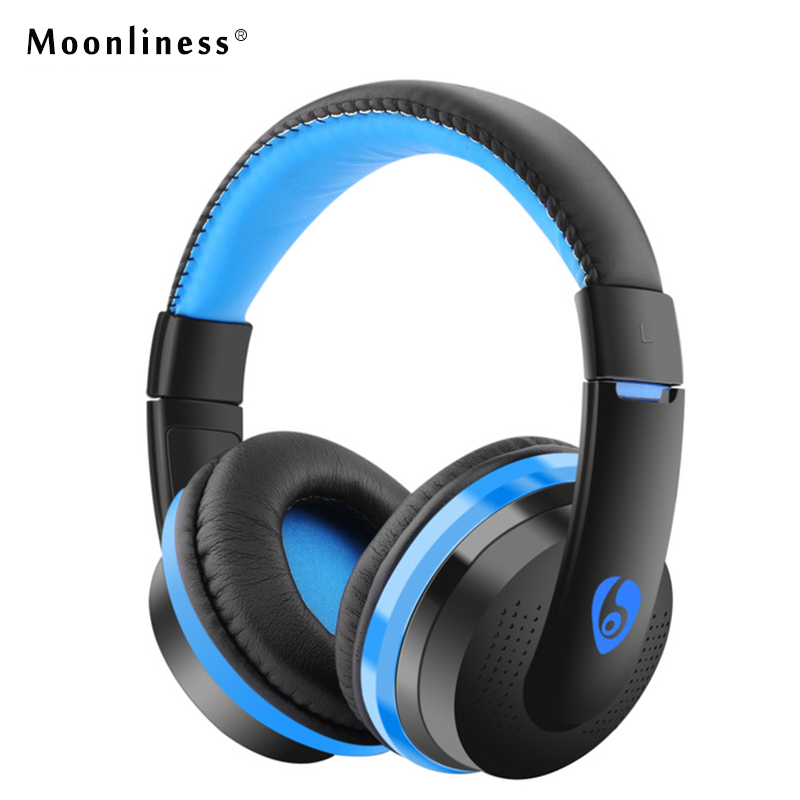 Moonliness  Noise MX666 Cancelling Headphones Bass Headphone Wireless FM Headset Earphone with Micro-SD Card Slot Microphone FM economic set original nia 8809s 8 gb micro sd card a set wireless headphone sport for tv with fm