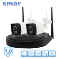 Smar Real Plug & Play 4CH Wireless CCTV System WIFI NVR 720P Bullet IP Camera 36 IR LEDS Wifi Surveillance Kit Plastic