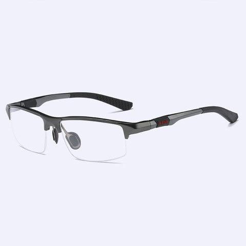 3121 Optical Eyeglasses Frame for Men Eyewear Prescription Glasses Half Rim Man Spectacles Alloy Frame Eyeglasses Multan