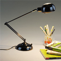 Led Desk Lamp Incandescent Lamp High Grade Metal Long Arm Folding Table Lamp 220V European Office