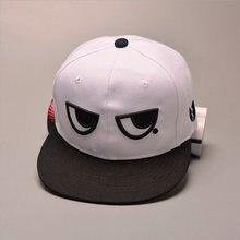2018 nuevo divertido lindo blanco y negro ojos gorra de béisbol Hip hop  Snapback sombrero hombres mujeres amantes de ala plana s. 9076a70f8c7c