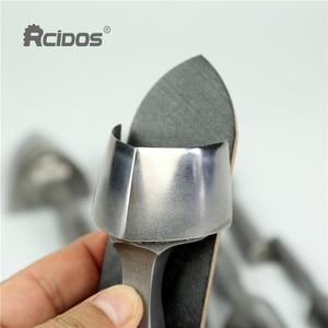 "Image 2 - Hight quality ""V""shape Belt End punch cutter,RCIDOS DIY Leather watch band corner Trimmer,15/20/25/30/35/38/40mm,1pcs price"