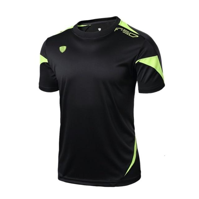 Man Soild Colors Running Quick Drying Men's Running Short Sleeve T-shirt Sportswear Brand Man wicking T-Shirts Men Tops