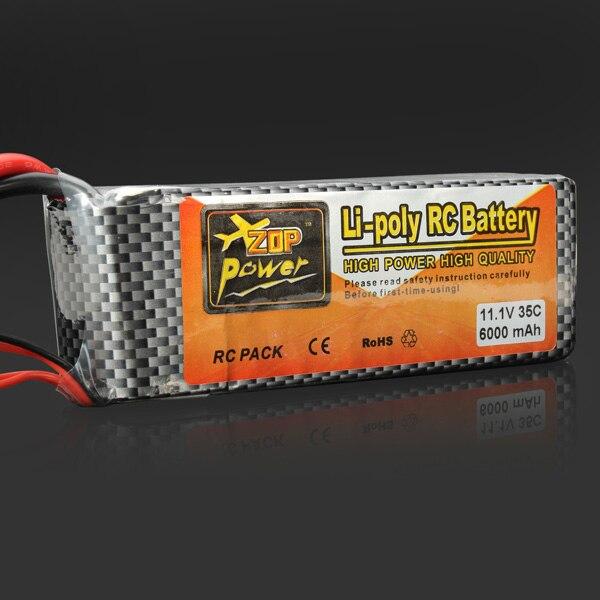 ФОТО Wholesale ZOP Power 11.1V 6000mAh 35C Lipo Battery XT60 Plug