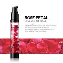 MENOW Brand New Essence Makeup Primer for Women Easy to Absorb Moisturizer Whitening Brighten Rose Petal Essence Face Primer
