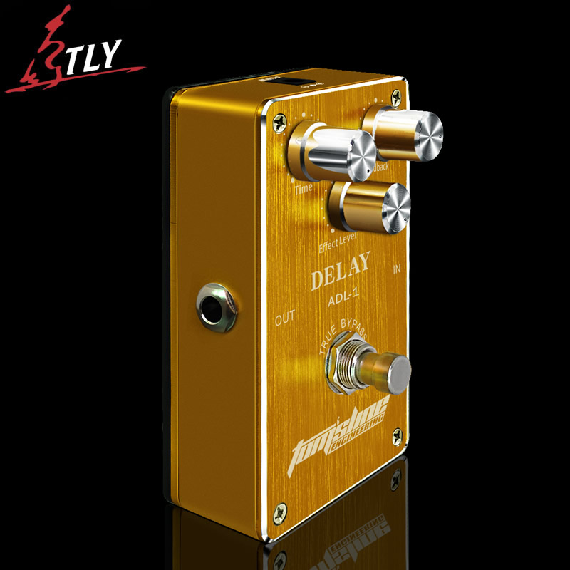 AROMA ADL-1 True Bypass Delay Electric Guitar Effect Pedal High Quality Aluminum Alloy Guitar Accessories(Delay Range:50-400ms) aroma adl 1 aluminum alloy housing true bypass delay electric guitar effect pedal for guitarists hot guitar accessories