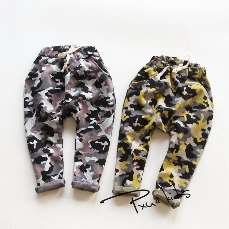 Nové módní dětské oblečení 2017 Děti Boy Gilrs Camouflage Long PP Harem kalhoty Dětské Sporty Camo Cargo kalhoty Jchao