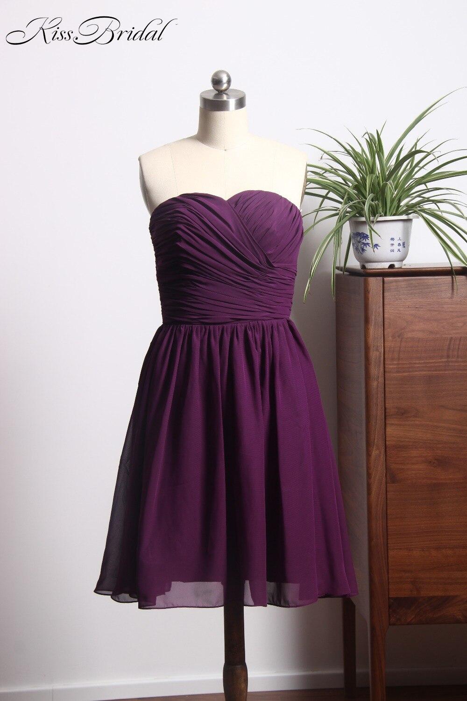 demoiselle d'honneur 2018 Gorgeous Purple   Bridesmaid     Dresses   Short Sweetheart Cheap Wedding Guests   Dress   Cheap