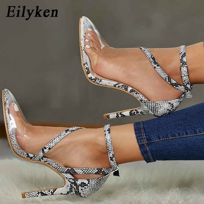 Eilyken PVC Women Pumps Fashion Buckle Strap Pointed Toe High Heels Party Lady Shoes Thin Heels Femme Snakeskin grain Eilyken PVC Women Pumps Fashion Buckle Strap Pointed Toe High Heels Party Lady Shoes Thin Heels Femme Snakeskin grain