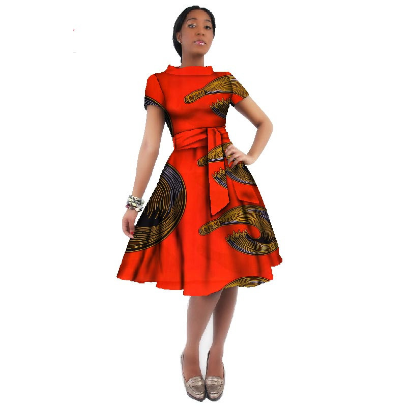 African Dresses For Women African Wax Print Dresses Dashiki Plus Size Africa Style Clothing for Women Dress African Clothes