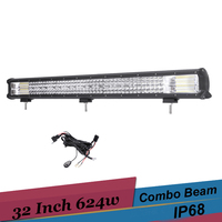 32 ''OffRoad Led-lichtbalk 624 w Auto LED Bar voor Jeep Wrangler Truck ATV UTV SUV Dodge Ram 4x4 Ford Golf Trailer