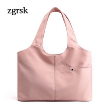 Ladies Luxury Handbags Women Bags Designer Big Oxford Zipper Solid Woman Shoulder Bag Brown Business EZ212
