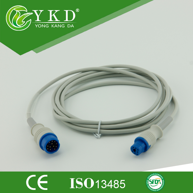 Free shipping spo2 sensor extension cable compatible M2475B  M1732A/BFree shipping spo2 sensor extension cable compatible M2475B  M1732A/B