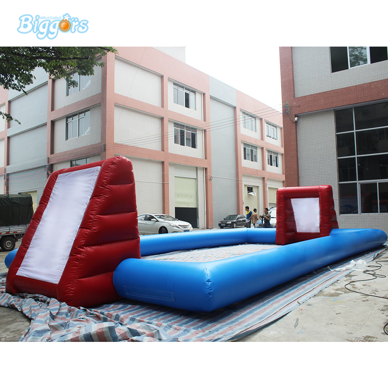 Cheap Price Popular inflatable soccer pitch football field without floor cheap portable small inflatable water soccer football field for kids