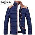 Hee grand 2016 novas jaquetas homens inverno dos homens casaco e jaqueta do homem de algodão sólida engrossar quente casaco outwear masculino mwm1559
