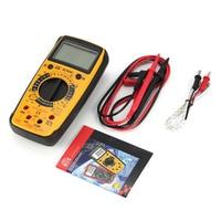HC890C Digital Handheld Multimeter AC/DC Volt Amp Ohm Capacitance Temperature Diode hFE Tester Continuity testing 1999 Counts