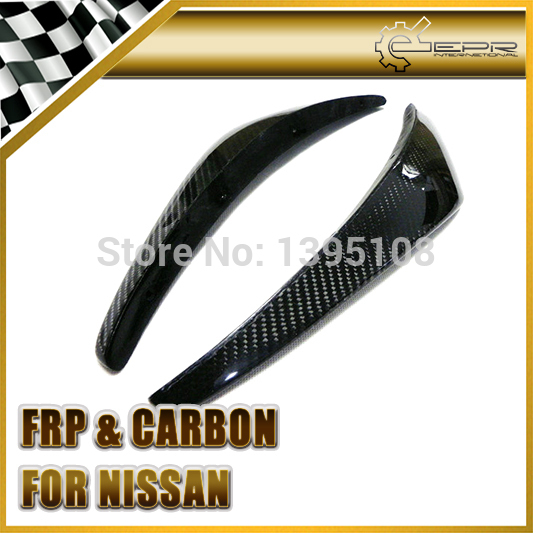 New Car Styling For Nissan Z33 350Z NIS Style Version 2 Real Carbon Fiber Front Bumper Canards 2pcs In Stock