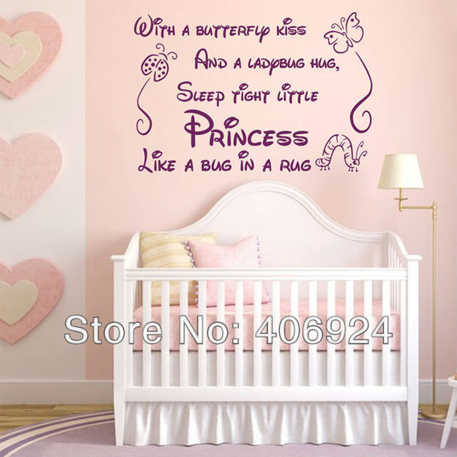 Awesome Wholesale Princess Wall Quote Decals Stickers Decor Living Room Vinyl Art Wall  Decor Nursery Lettering Saying