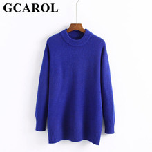 GCAROL Autumn Winter O Neck Women Long Sweater Oversize Soft Hand Pullover High Quality Euro Style Knit Ladies Tops
