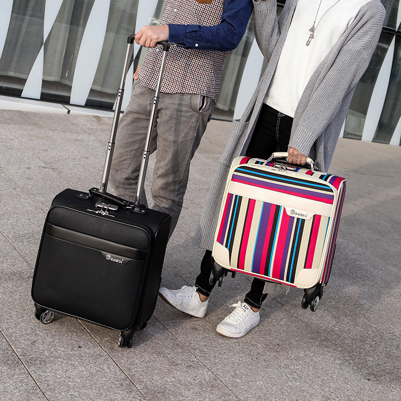 Unisex Business Travel Rolling Luggage Spinner Wheels 18 inch Suitcase Airplane Clothing Carry On Trolley Luggage