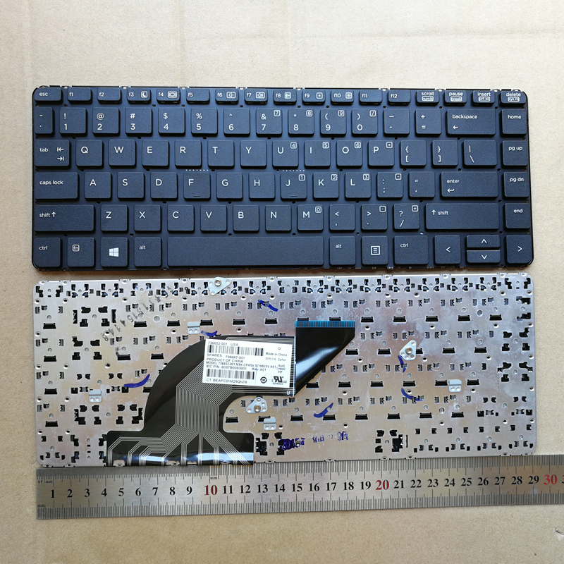 New Laptop <font><b>keyboard</b></font> for <font><b>HP</b></font> 6037B0093001 9Z.N9JSV.A01 NSK-CPASV 6037B0088401Z PK131592A00 V139402AS1 767470-001 G1 440 <font><b>430</b></font> G2 image