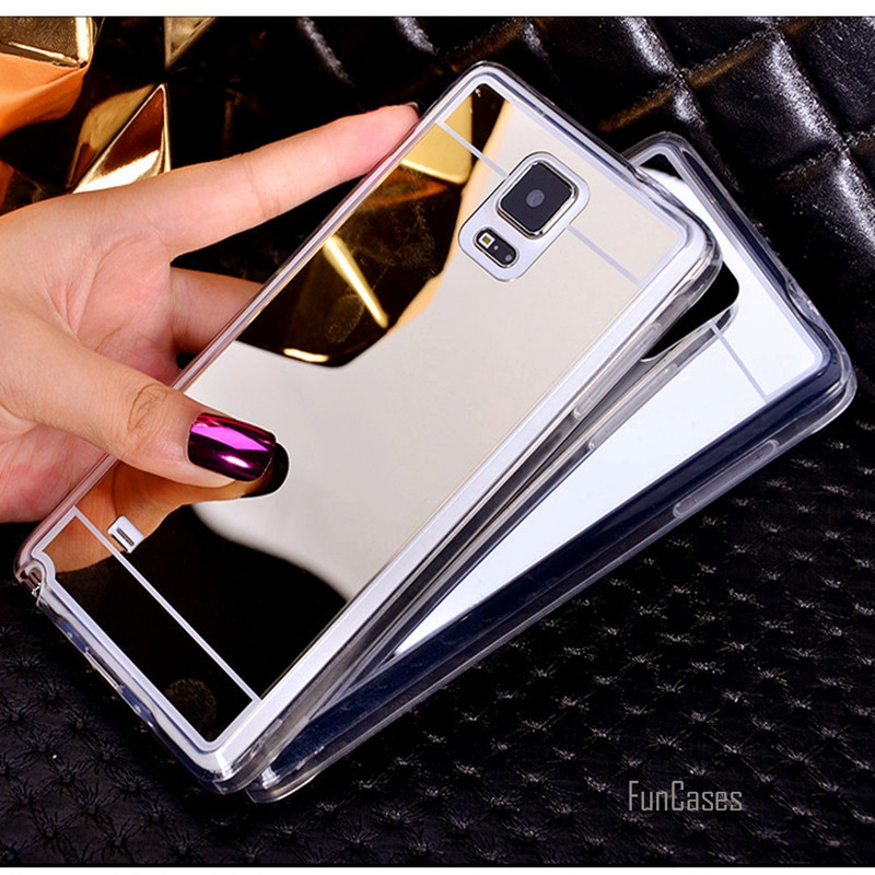 Plating Mirror Soft TPU Back Case Cover For Samsung Galaxy note3 note4 note5 S3 S4 S5 S6 S7 j3 j5 j7 A3 A5 A7 G530 Phone Cases