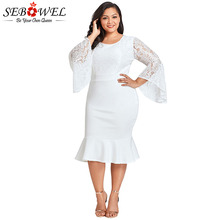379110635da09 Buy white lace bell sleeve dress and get free shipping on AliExpress.com