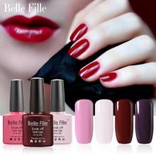 BELLE FILLE 10ml Colour UV Gel Nail Polish salon gel nail polish Bling lacquer Soak-off LED Gel easy painting fingernail polish