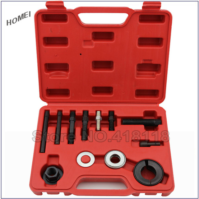 PROFESSIONAL 12PCS CAR UNIVERSAL STEERING WHEEL PULLEY PULLER REMOVAL KIT SET TOOLS FOR GM/FORD/Buick