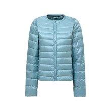 Women Ultra Light Thin Down Jacket Hooded 90% Winter Duck Down Short Jackets Parka Breasted Coats Plus Size XXXXL Muti Colors стоимость