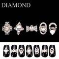 10Pcs/Lot 3D Charms Glass Crystal Diamonds Nail Art Design Stone Decorations Strass Jewelry DIY Nailart Adhesive Rhinestones