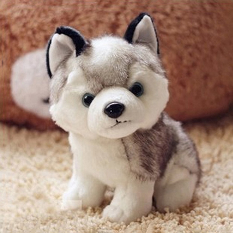 Lovely Simulation Husky Dog Stuffed Animals Plush Toys Cushions Gifts Plush Animals Doll Gift 80cm dog stuffed toys plush toy creative simulation doll white pattern dog home furnishings dog animal trade for kids gift