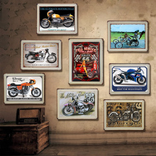 Motorcycle Vintage Metal Plate Tin Signs Wall Poster Decals Painting Bar Club Pub Home Decor 30*20cm 1001(724)