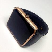 Lo nuevo desgaste inteligente bluetooth salud smartwatch reloj teléfono con la tarjeta sim para apple samsung gear gt08 dispositivo portátil teléfono