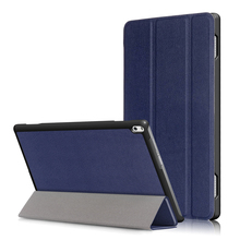 Solid Case for Lenovo TAB 4 10 Plus TB-X704F/X704N 10.1″ 2017 New,PU Leather Smart Wake/Sleep Magnet Stand Protective Cover