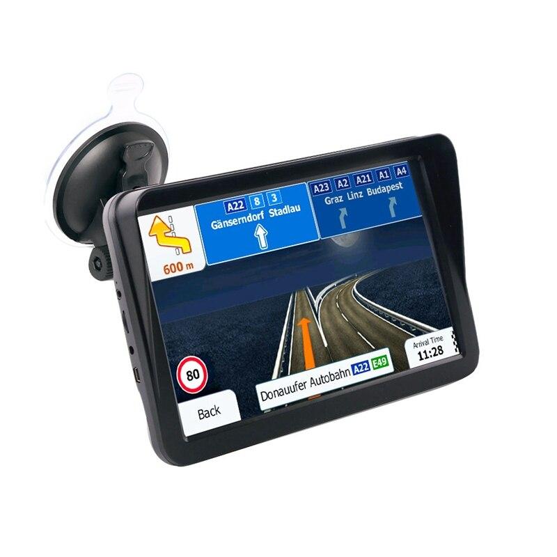 9 pouces voiture écran capacitif Gps navigateur Bluetooth Fm 8G 256M lecteurs Mp3/Mp4 pare-soleil conduite navigateur vocal