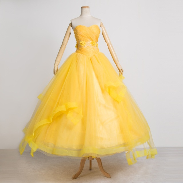 2017 Beauty And The Beast Movie Costume Princess Belle Adults Cosplay Yellow Dress