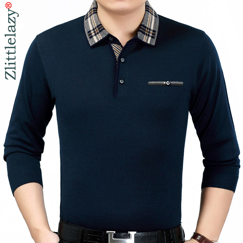 2019 brand casual spring solid long sleeve   polo   shirt men poloshirt jersey pocket mens   polos   tee shirts dress fashions 201923