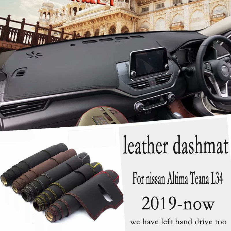 For Nissan Altima Teana L34 2019 2020 2021 Leather Dashmat Dashboard Cover Pad Dash Mat Carpet Car-Styling Accessories  RHD
