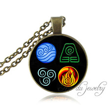 Wholesale Avatar the last Airbender necklace fire elements,water tribe,Earth Kingdom,antique glass art pendant fashion jewelry