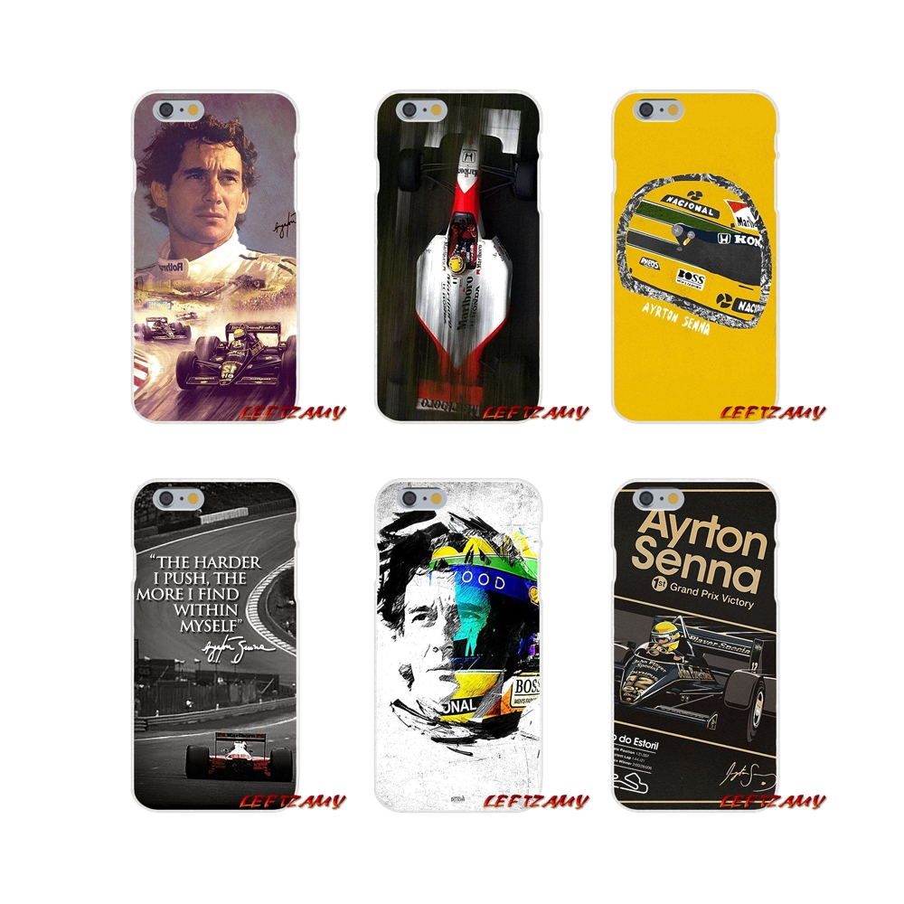 Accessories Phone Cases Covers Ayrton Senna Racing Logo For Huawei P Smart Mate Y6 Pro P8 P9 P10 Nova P20 Lite Pro Mini 2017