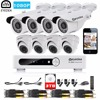 Eyedea 8CH Email Alert Phone View DVR Recorder 1080P LED Night Vision Bullet Dome Surveillance CCTV