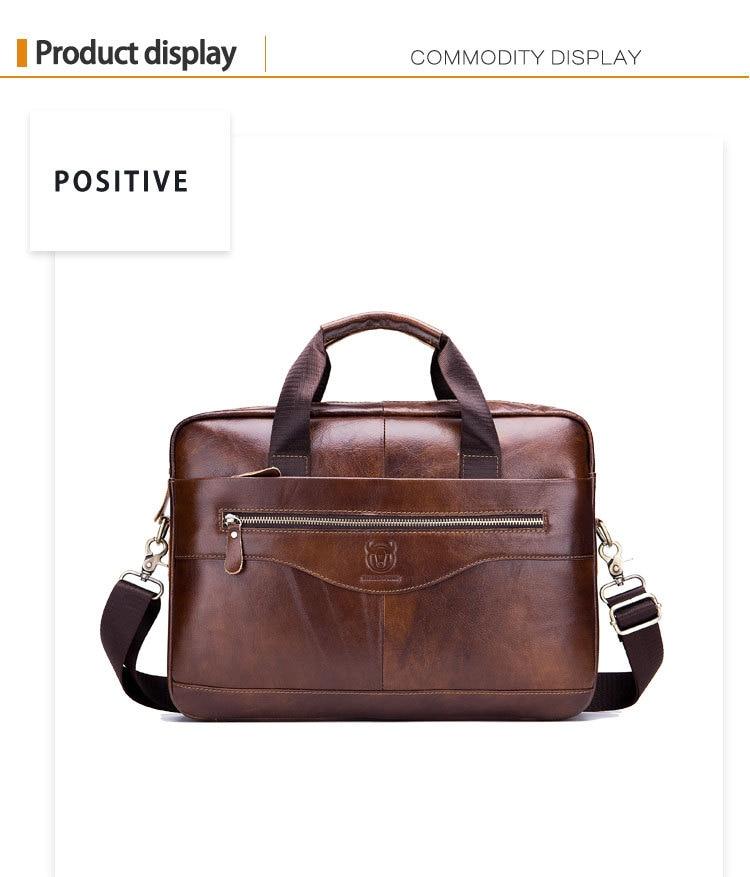 HTB1NEjLaznuK1RkSmFPq6AuzFXaU Genuine leather men's Briefcase vintage business computer bag fashion messenger bags man shoulder bag postman male Handbags