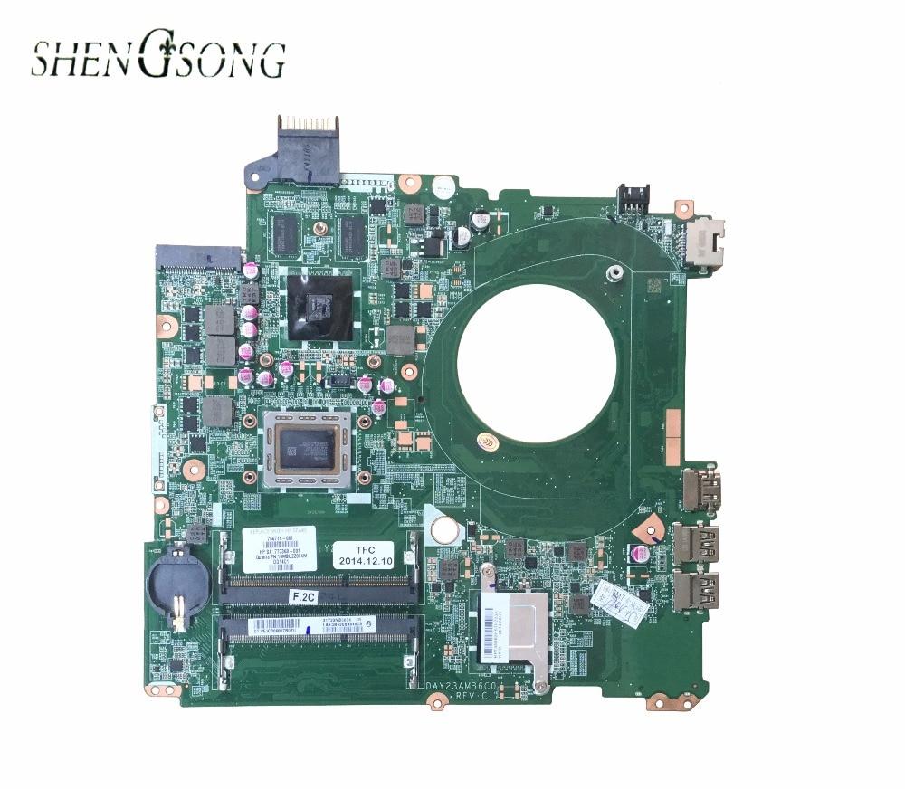 766715-001 Livraison gratuite pour HP PAVILION 15-P SÉRIE carte mère 766715-501 DAY23AMB6C0 DDR3 maiboard 100% test