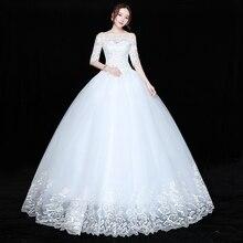 Düğün elbisesi Gelin Artı boyutu Dantel düğün elbisesi es Yeni Balo Elbise Prenses