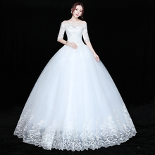 Vestido de noiva plus size, com cadarço, vestidos de casamento, novo vestido de baile, princesa