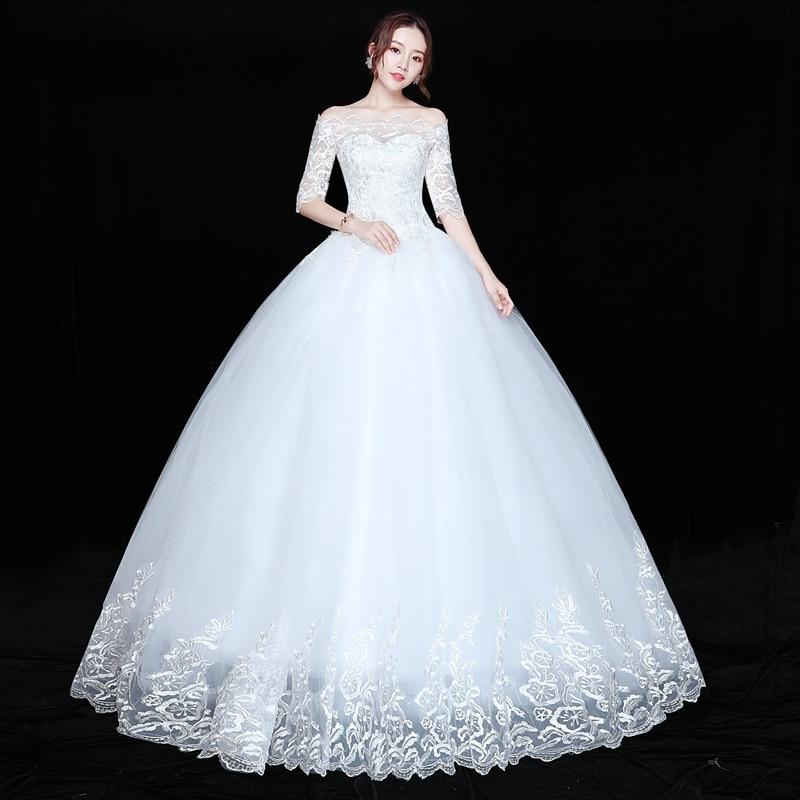 Wedding Dress Bride Plus Size Lace Up Wedding Dresses New Ball Grown Dress Princess
