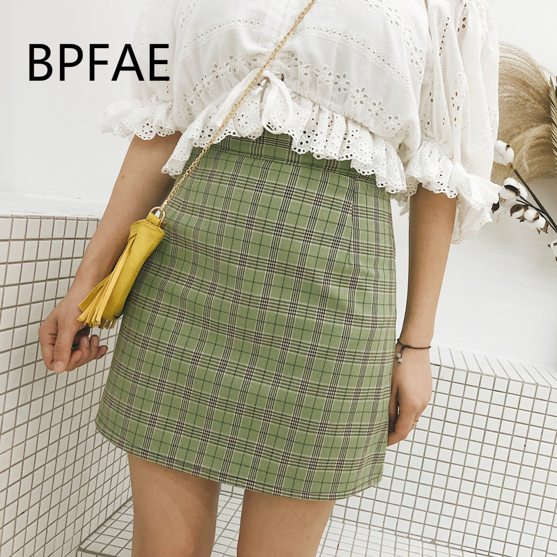 2d246457b22 Buy plaid green skirt and get free shipping on AliExpress.com
