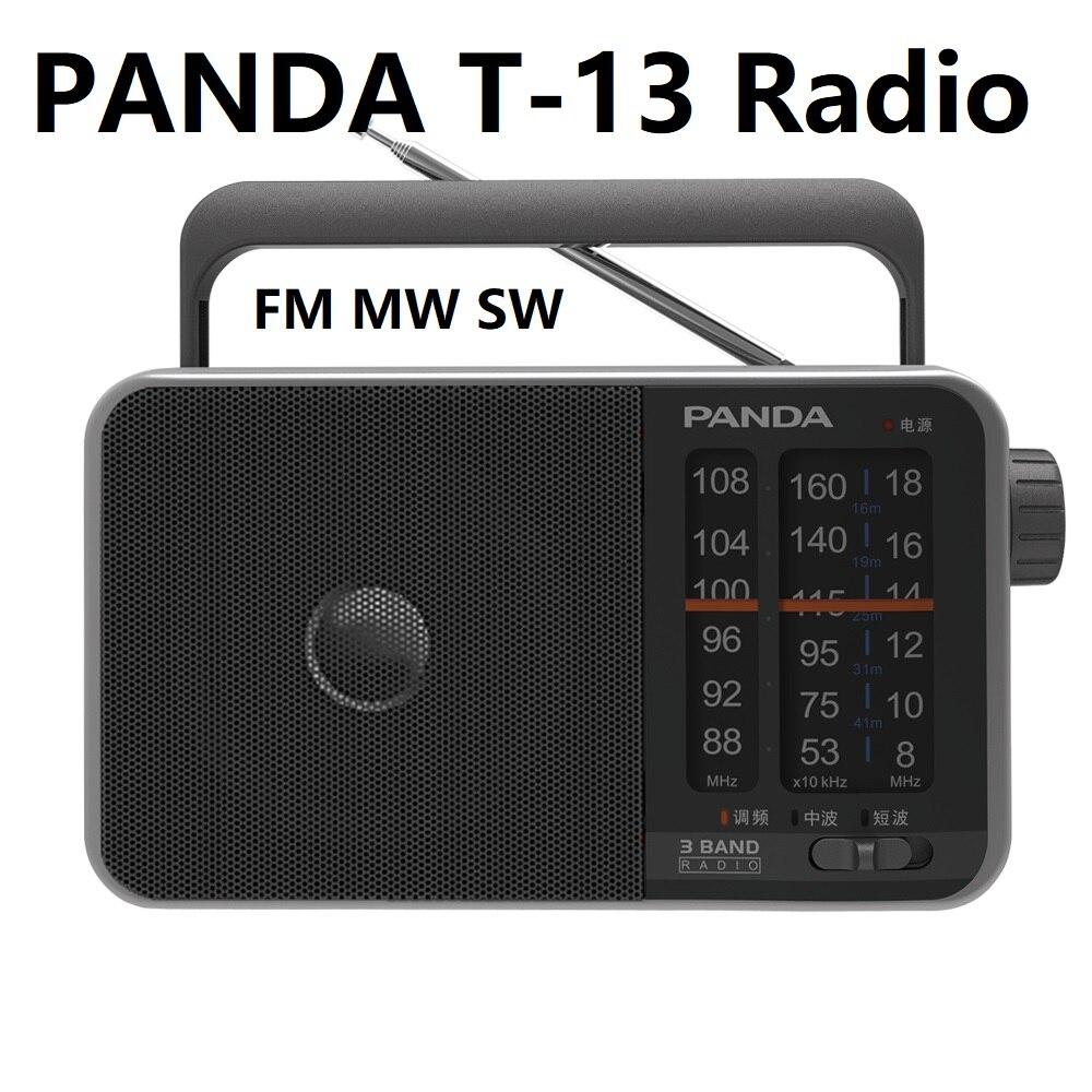 Radio Einfach Panda T-13 Radio Fm Mw Sw Drei Band Betrieb Einfache Sound Qualität Klar Tragbare Pointer Medium Welle Kurzwelligen Fm Radio Verbraucher Zuerst Unterhaltungselektronik