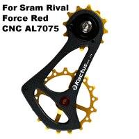 KACTUS TECH 17TSR Carbon Fiber Bicycle Rear Derailleur Bike Ceramic Bearing Pulley Wheel for SRAM RIVAL FORCE RED Bicycle Derailleur    -